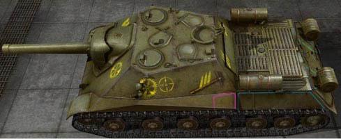 Контурные шкурки с зонами пробития для World of tanks патч 0.8.11. Добавле